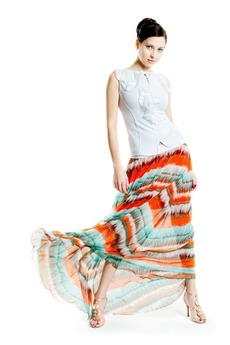 Длинная шифоновая юбка SUGAR